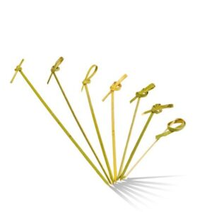 Bamboo, Disposable Looped Skewer 120mm