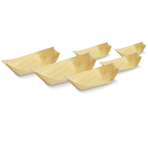 Wood, Disposable Pine Boat Extra Small