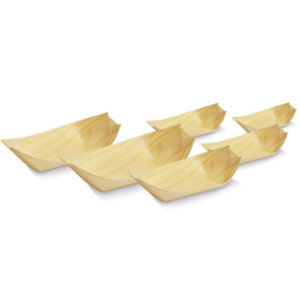 Wood, Disposable Pine Boat Extra Large