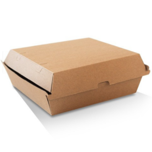 Corrugated Cardboard, Disposable Dinner Box Brown