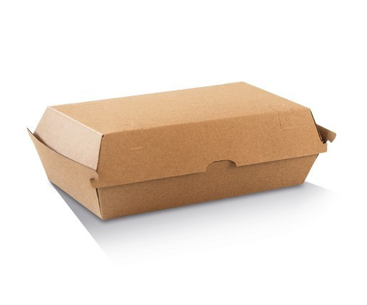 Corrugated Cardboard, Disposable High Snack Box Brown Large