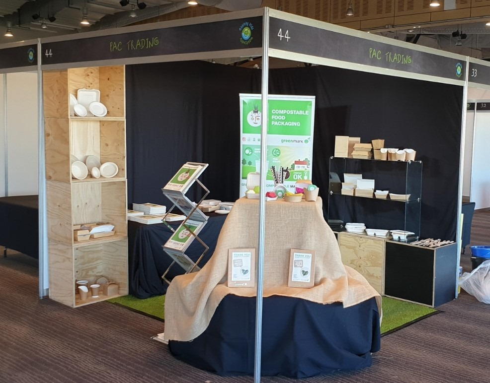 sustainable food packaging stand