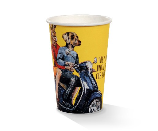 Paper, PLA, Disposable Coated SW Cup Art Print 10oz