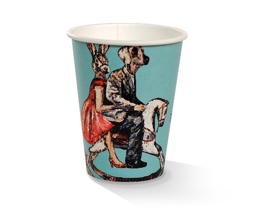Paper, PLA, Disposable Coated SW Cup Art Print 90mm12oz