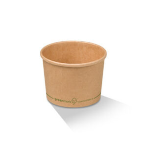 Paper, PLA, Disposable Coated Brown Bowl 12oz