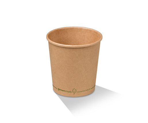 Paper, PLA, Disposable Coated Brown Bowl 16oz