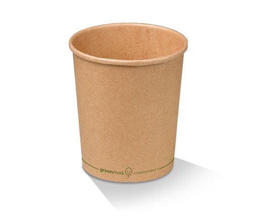 Paper, PLA, Disposable Coated Brown Bowl 32oz