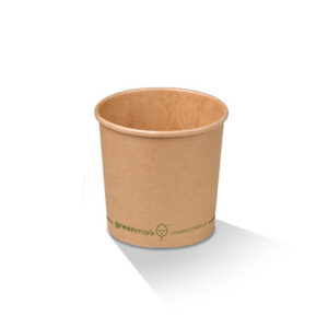 Paper, PLA, Disposable Coated Brown Bowl 4oz
