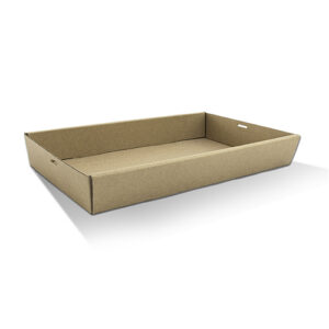 Cardboard, Disposable Catering Tray Brown Large 50mm High