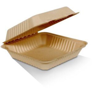Bamboo, Disposable Clamshell