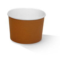Paper, PLA, Disposable Coated Paper Bowl Brown 16oz