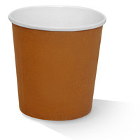 Paper, PLA, Disposable Coated Paper Bowl Brown 24oz