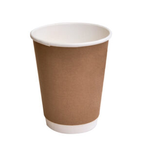 Paper, PLA, Disposable Coated DW Cup Brown 12oz