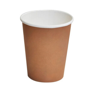 Paper, PLA, Disposable Coated SW Cup Brown 12oz