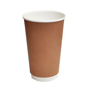 Paper, PLA, Disposable Coated DW Cup Brown 16oz