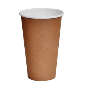 Paper, PLA, Disposable Coated SW Cup Brown 16oz
