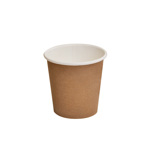 Paper, PLA, Disposable Coated SW Cup Brown 4oz