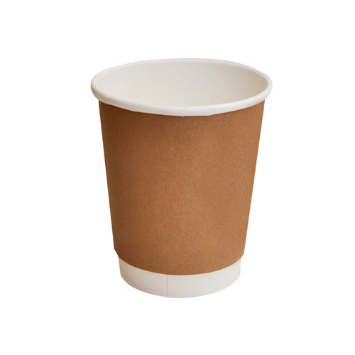 Paper, PLA, Disposable Coated DW Cup Brown 8oz
