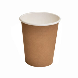 Paper, PLA, Disposable Coated SW Cup Brown 8oz