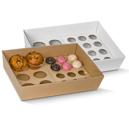Corrugated Cardboard, Disposable Cupcake Tray Large 6 Holes