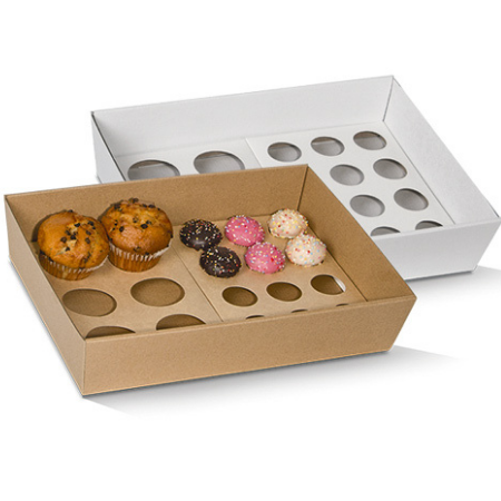 Corrugated Cardboard, Disposable Cupcake Tray Small 12 Holes