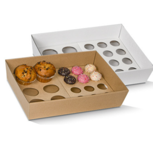 Corrugated Cardboard, Disposable Cupcake Tray Small 6 Holes