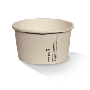 Bamboo Paper, PLA, Disposable Coated Ice-Cream Cup 4oz