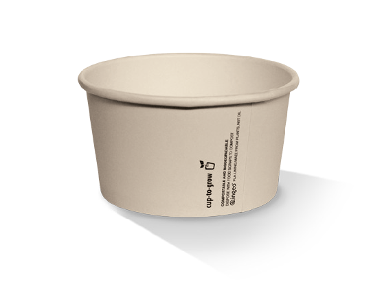 Bamboo Paper, PLA, Disposable Coated Ice-Cream Cup 5oz