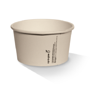Bamboo Paper, PLA, Disposable Coated Ice-Cream Cup 8oz