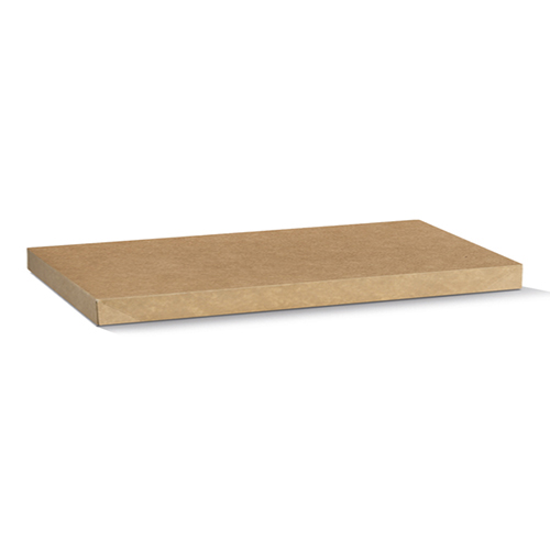 Kraft Paper, Disposable Catering Tray Lid - No Window Large