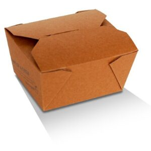 Kraft Paper, PLA, Disposable Coated Lunch Box - Small