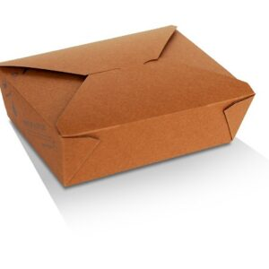 Kraft Paper, PLA, Disposable Coated Lunch Box Large
