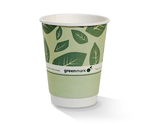 Paper, PLA, Disposable Coated DW Cup Green 12oz