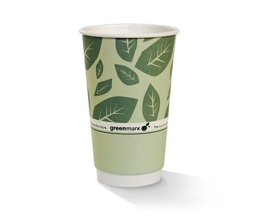 Paper, PLA, Disposable Coated DW Cup Green 16oz
