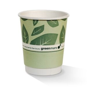 Paper, PLA, Disposable Coated DW Cup Green 8oz