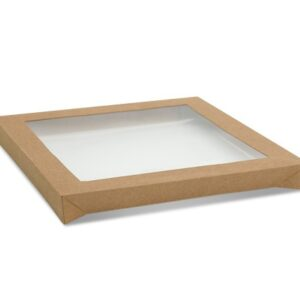 Paper, PLA, Catering Tray Lid - PLA Window Square Large