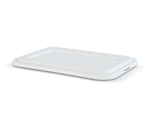 Sugarcane, Disposable Deep Tray Lid 4 Compartment