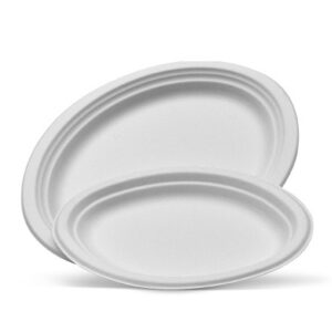 Sugarcane, Disposable Oval Plate Large