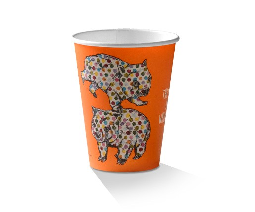 Paper, PLA, Disposable Coffee Cup Animal Print 12oz.