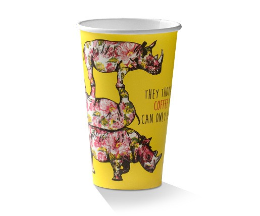 Paper, PLA, Disposable Coffee Cup Animal Print 16oz.