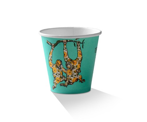 Paper, PLA, Disposable Coffee Cup Animal Print 8oz.