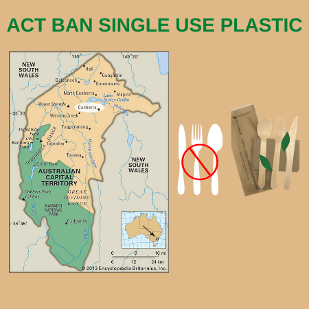 ACT Single Use Plastic Ban to Start Effect from 1st July 2021.